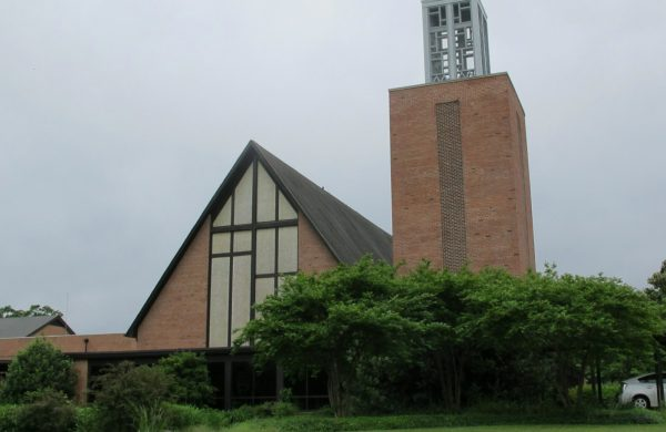 Spa Road view of Narthex, Sancturay and bell tower
