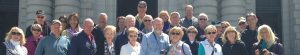 Picture of group outing to Naval Academy of members of St. Martin's Lutheran Church