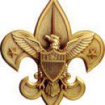 Boy Scout emblem in gold
